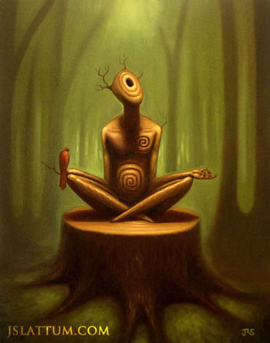 """Forest Thinker,"" by J. Slattum"